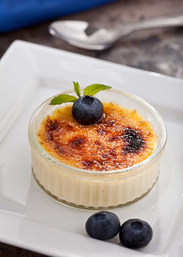 Low Syn Spiced Cranberry and Orange Yogurt Brulee