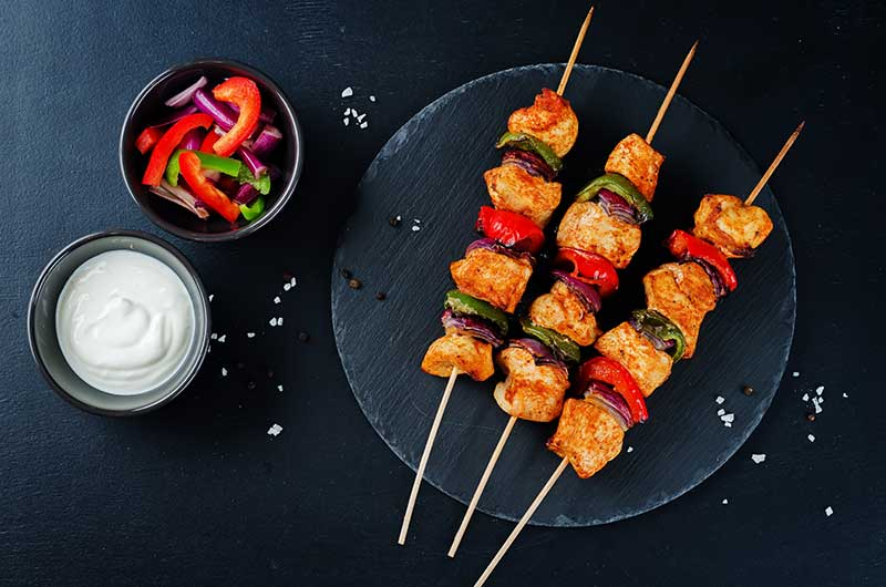 Syn Free Piri Piri Chicken and Vegetable Skewers