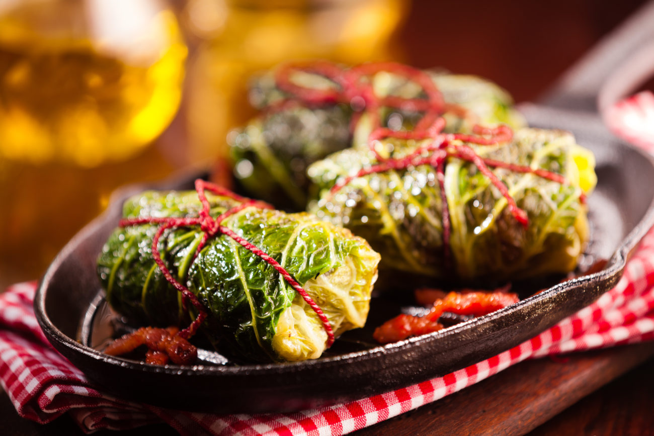 Slow Cooker Cabbage Parcels