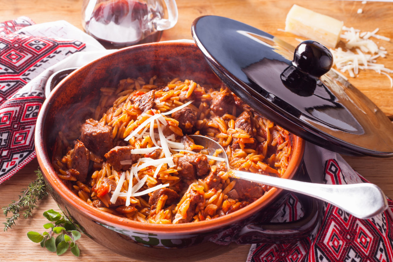 Slow Cooker Greek Lamb & Orzo Pasta