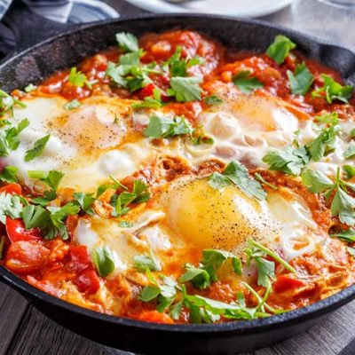 Slimming world breakfast Shakshuka Eggs