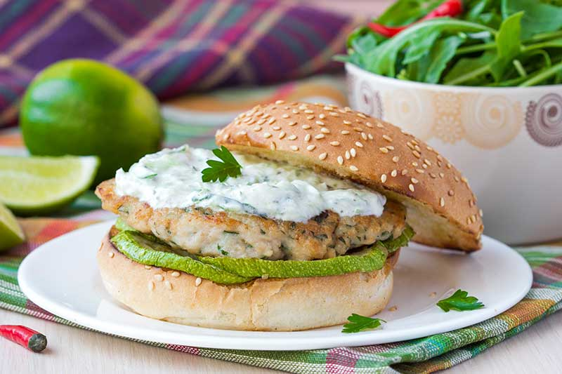 Very Skinny Tikka Turkey Burgers