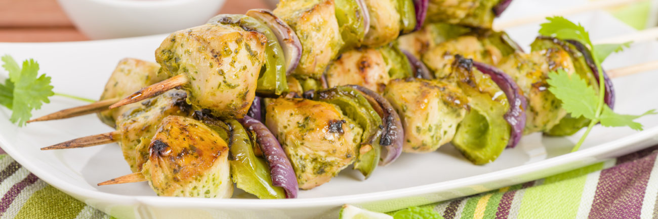 Chicken Kebabs – Fresh Lime & Coriander
